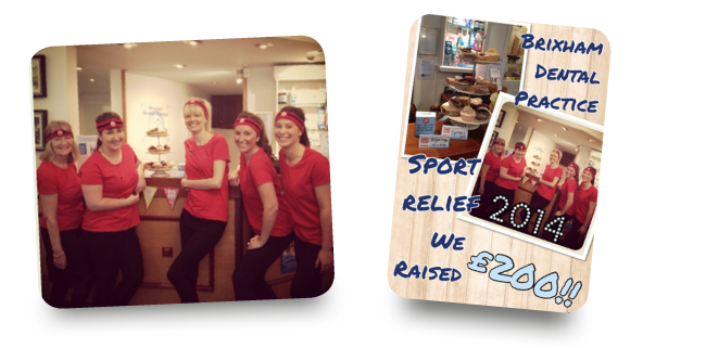 Brixham Dental Practice Sport relief we raised £200!!